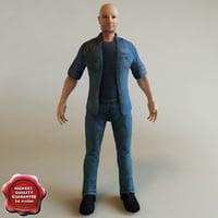 3d model realistic man
