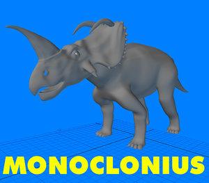3d monoclonius dinosaur model
