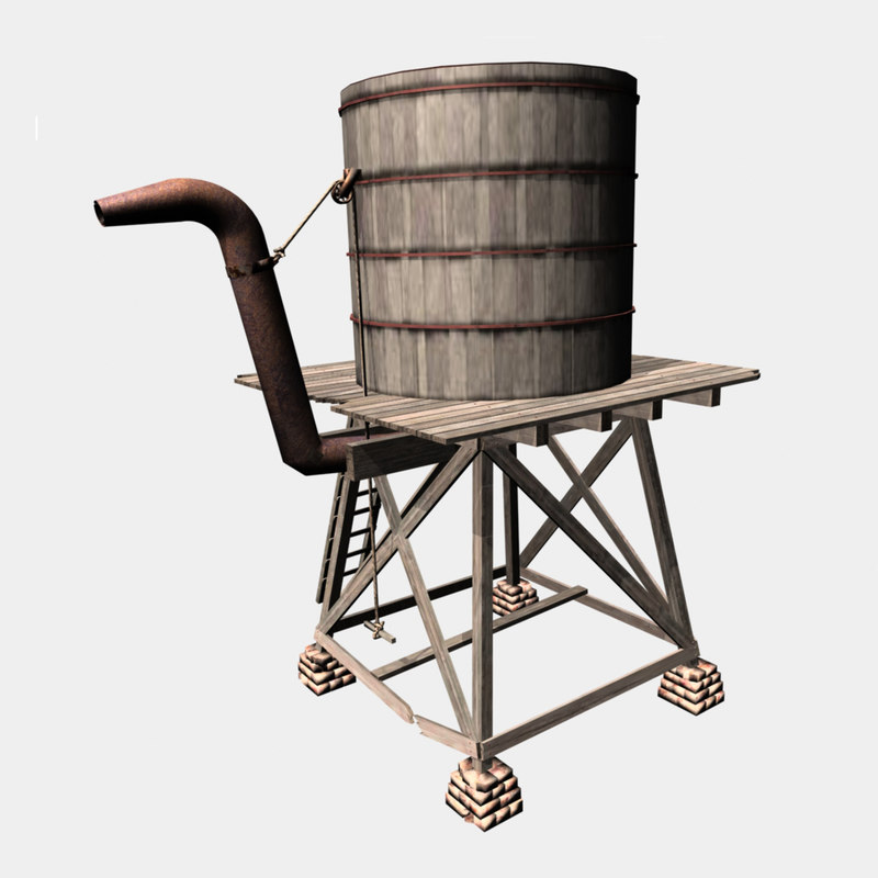 old water tower 3d model