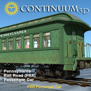 prr passenger car 3d model