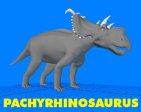 pachyrhinosaurus dinosaur 3d 3ds