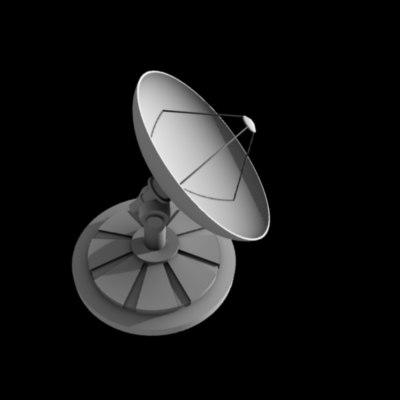 free radar dish 3d model