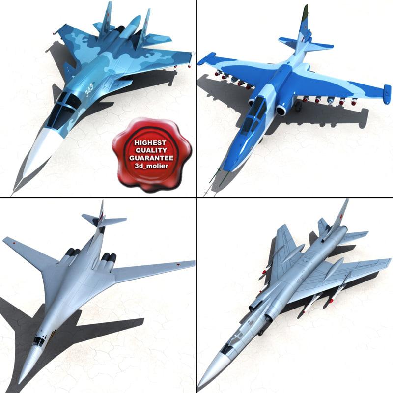 3dsmax russian war-planes