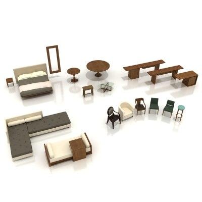 3ds max hotel furniture