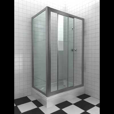 3d model shower cubicle