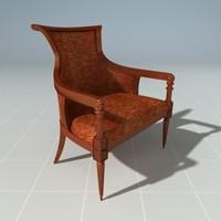 3ds max designer chair