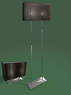 3d standard lamp clavius sconce