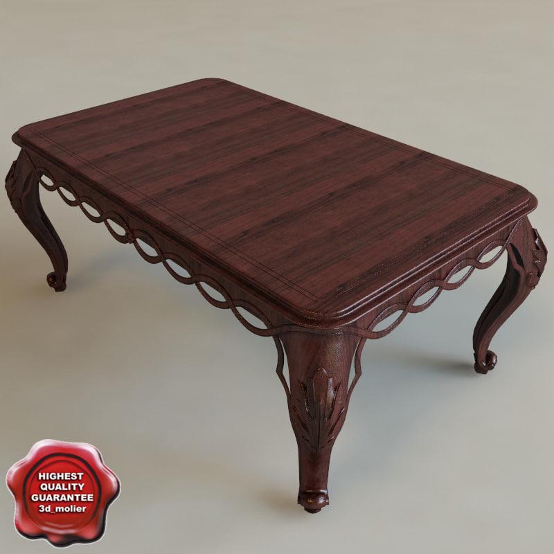 table classic interior 3d c4d