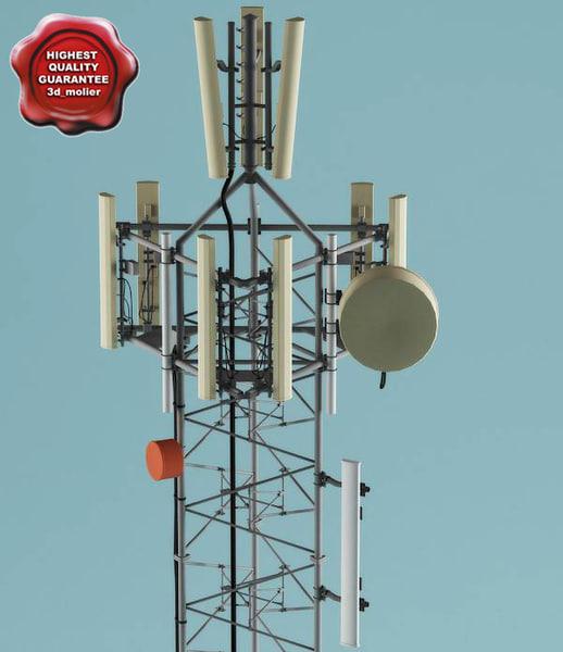 telecommunication tower v1 3d model