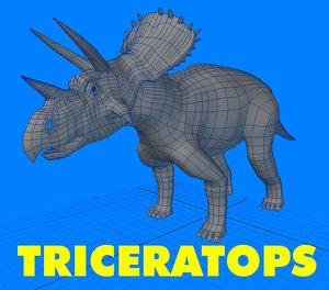 3d dinosaur triceratops model