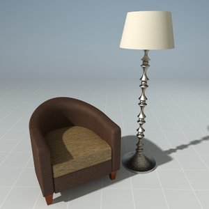 sandler chair 3d max