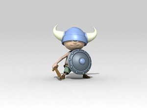 3d viking kid model