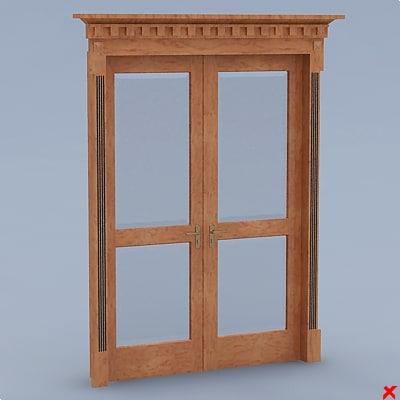 3d model glass door