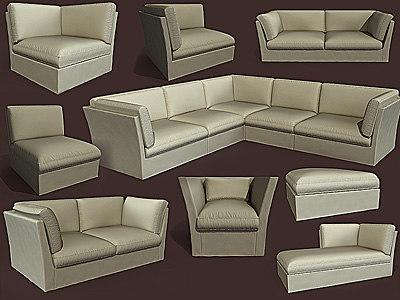 meridiani furniture sofa 3d max