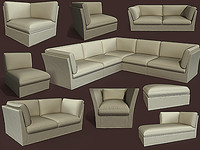 meridiani furniture sofa 3d max