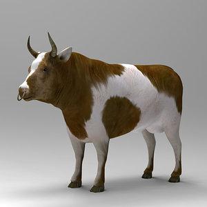 3d model bull
