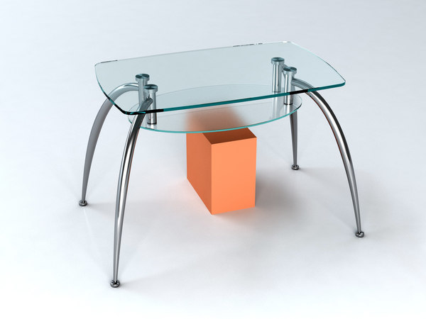 3d livingroom table