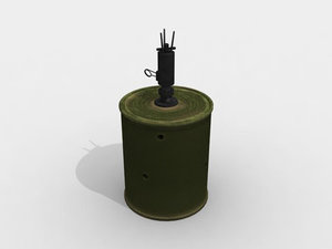 bouncing betty 3d obj