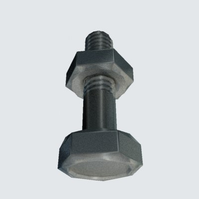 3d bolt steel nut