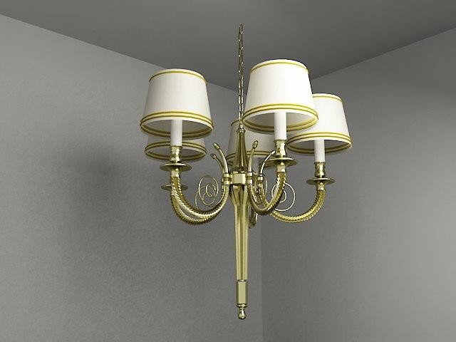 3ds max chandelier lighting