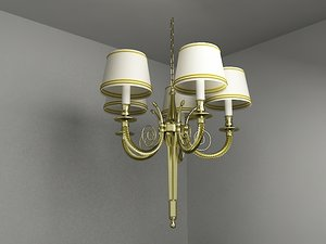 3ds max chandelier lighting