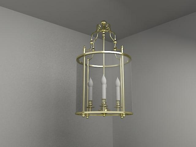 3dsmax classic chandelier lighting