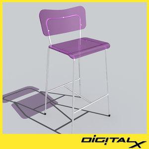 3d model cosmetic stool