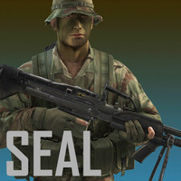 US Navy SEAL (Jungle version) with MK-43 machine gun