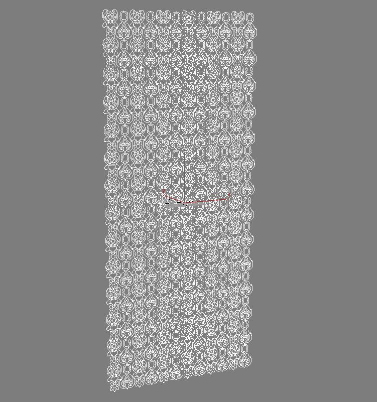 curtain damasco 3d model