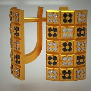 gold jewels jewellery 3d model