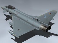 eurofighter typhoon germany german 3d model