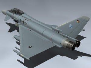 eurofighter typhoon germany german 3d model