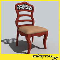 3d model formal chair