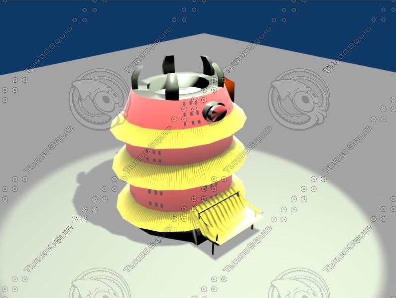 3d model naruto hokage house