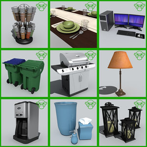 3d house stuff set