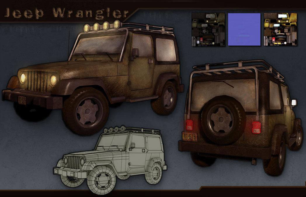 3dsmax jeep wrangler