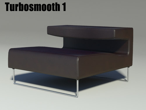 lowseat leather brown 3d model
