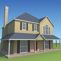 3d model low-poly house