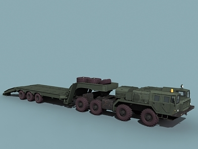 3d maz-7410 transporter uragan model