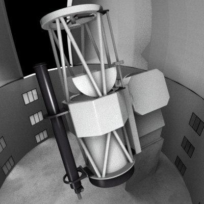 astronomic observatory 3d model