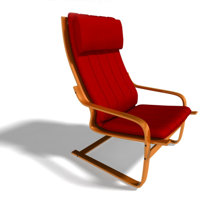 Poang Armchair 3D View Source · Poang Chair Ikea