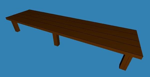 pontoon table 3d model
