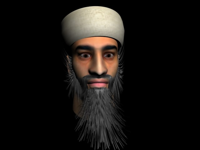 3d model head bin laden