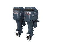 large yamaha outboard 3d model