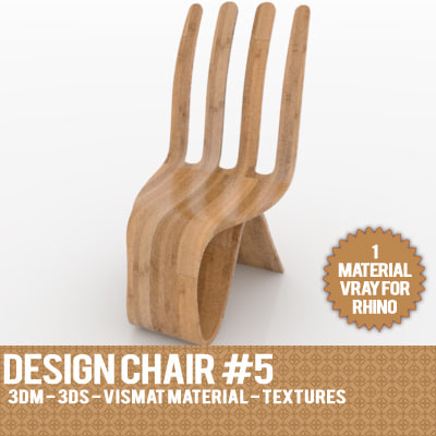 3d model design chair