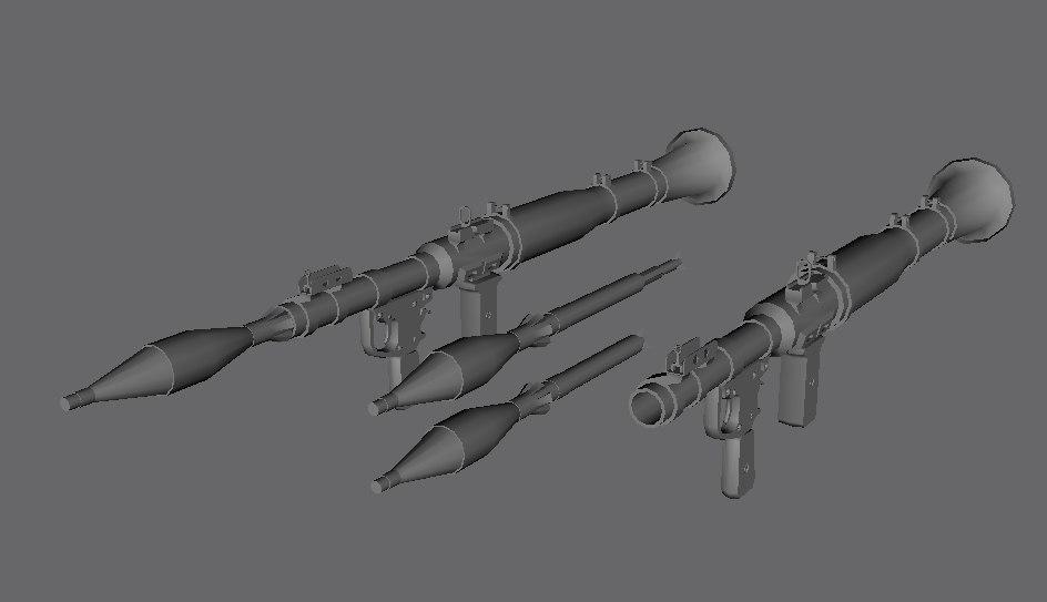 rpg rockets 3d model