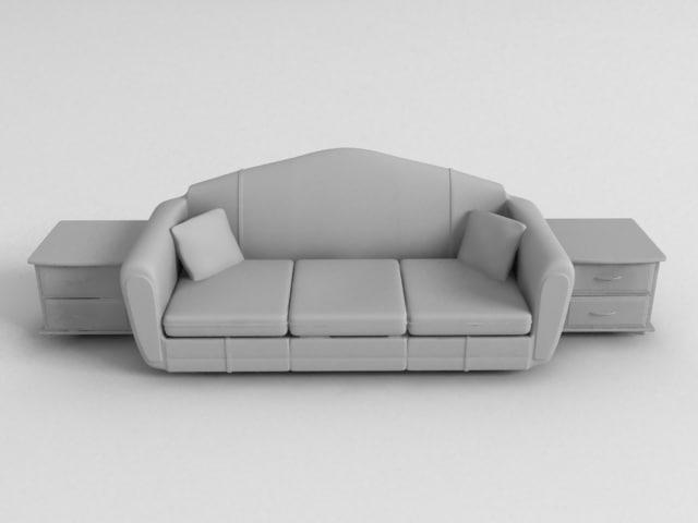3d suite living room