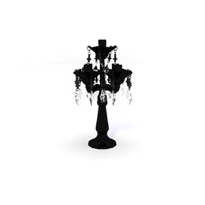 baroque glass table chandelier 3d 3ds