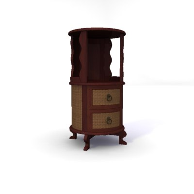 3d model rattan wine stand