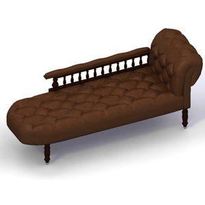 3d victorian chaise longue